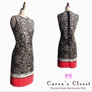 Kenneth Cole Leopard Sheath Dress